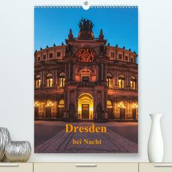 Dresden bei Nacht (Premium, hochwertiger DIN A2 Wandkalender 2020, Kunstdruck in Hochglanz) von Kirsch,  Gunter