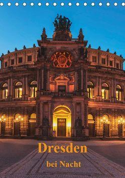 Dresden bei Nacht (Tischkalender 2019 DIN A5 hoch) von Kirsch,  Gunter