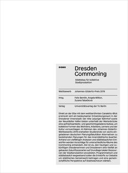 Dresden commoning – Städtebau für kollektive Stadtproduktion von Bentlin,  Felix, Million,  Angela, Tabačková,  Zuzana