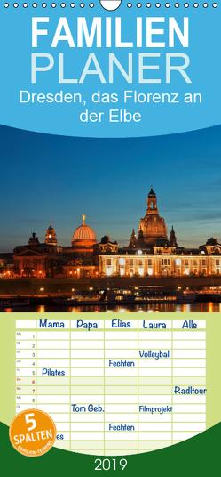 Dresden, das Florenz an der Elbe – Familienplaner hoch (Wandkalender 2019 , 21 cm x 45 cm, hoch) von Kirsch,  Gunter