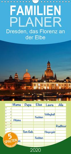 Dresden, das Florenz an der Elbe – Familienplaner hoch (Wandkalender 2020 , 21 cm x 45 cm, hoch) von Kirsch,  Gunter