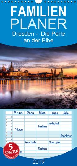 Dresden Die Perle an der Elbe – Familienplaner hoch (Wandkalender 2019 , 21 cm x 45 cm, hoch) von Gierok,  Steffen