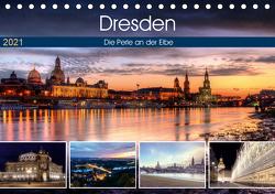 Dresden Die Perle an der Elbe (Tischkalender 2021 DIN A5 quer) von Gierok,  Steffen