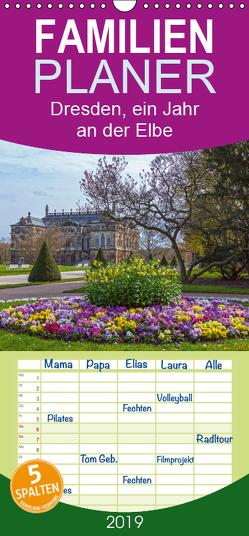 Dresden, ein Jahr an der Elbe – Familienplaner hoch (Wandkalender 2019 , 21 cm x 45 cm, hoch) von Seifert,  Birgit