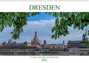 Dresden, ein Jahr an der Elbe (Wandkalender 2021 DIN A2 quer) von Seifert,  Birgit
