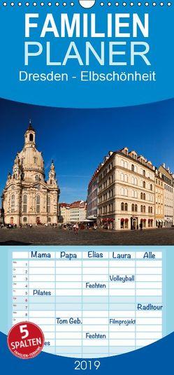 Dresden – Elbschönheit – Familienplaner hoch (Wandkalender 2019 , 21 cm x 45 cm, hoch) von boeTtchEr,  U