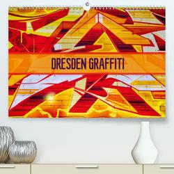 Dresden Graffiti (Premium, hochwertiger DIN A2 Wandkalender 2021, Kunstdruck in Hochglanz) von Meutzner,  Dirk