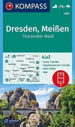 Dresden, Meißen, Tharandter Wald von KOMPASS-Karten GmbH