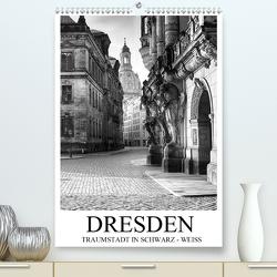 Dresden Traumstadt in Schwarz-Weiß (Premium, hochwertiger DIN A2 Wandkalender 2021, Kunstdruck in Hochglanz) von Meutzner,  Dirk