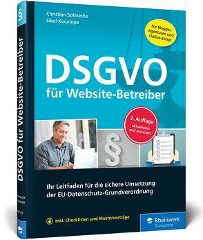 DSGVO für Website-Betreiber von Kocatepe,  Sibel, Solmecke,  Christian