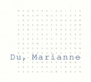 Du, Marianne von Gronemeyer,  Marianne, Loosen-Fox,  Marita