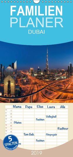 DUBAI – Familienplaner hoch (Wandkalender 2019 , 21 cm x 45 cm, hoch) von Claude Castor I 030mm-photography,  Jean
