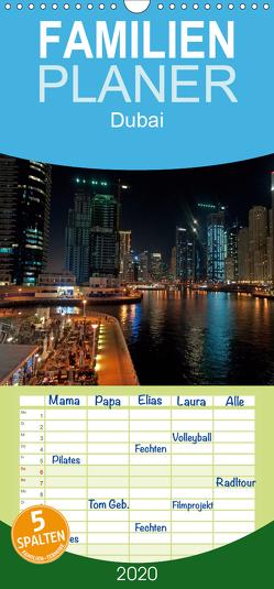 Dubai – Familienplaner hoch (Wandkalender 2020 , 21 cm x 45 cm, hoch) von Schneider www.ich-schreibe.com,  Michaela