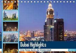 Dubai Highlights (Tischkalender 2019 DIN A5 quer) von Nawrocki,  Markus
