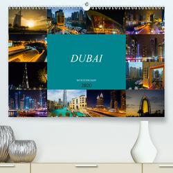 Dubai Wüstenstadt (Premium, hochwertiger DIN A2 Wandkalender 2020, Kunstdruck in Hochglanz) von Meutzner,  Dirk