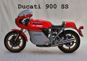 Ducati 900 SS (Tischaufsteller DIN A5 quer) von Laue,  Ingo