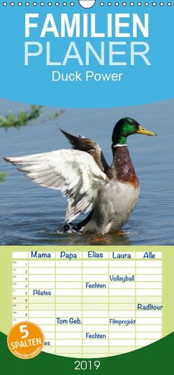 Duck Power – Familienplaner hoch (Wandkalender 2019 , 21 cm x 45 cm, hoch) von kattobello