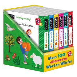 Duden 18+: 100 allererste Wörter-Würfel von Blanck,  Iris, Renger,  Nikolai