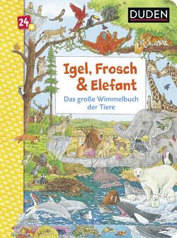 Duden 24+: Igel, Frosch & Elefant: Das große Wimmelbuch der Tiere von Braun,  Christina, Coenen,  Sebastian