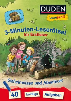 Duden Leseprofi – 3-Minuten-Leserätsel für Erstleser: Geheimnisse und Abenteuer von Moll,  Susanna, Scholz,  Valeska