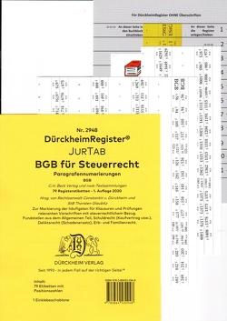 DürckheimRegister® BGB im Steuerrecht Gesetze und §§ 2021 von Dürckheim,  Constantin, Glaubitz,  Thorsten
