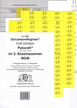 DürckheimRegister® BGB // PALANDT, 2. Staatsexamen 2021 von Dürckheim,  Constantin, Grassinger,  Nathanael, Hackler,  Martin