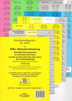 DürckheimRegister® BiBu-BILANZSTEUERRECHT Register für deine AO-AktG-BGB-EStG-EStR-KStG-UStG-GmbHG-HGB-UmwG mit Stichworten (2020) von Boeck,  Jessica, Dürckheim,  Constantin, Glaubitz,  Thorsten