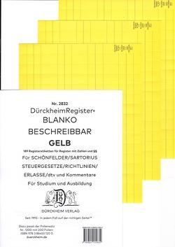 DürckheimRegister® BLANKO-GELB beschreibbar für deine Gesetze von Dürckheim,  Constantin von