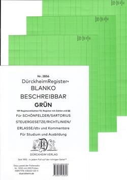 DürckheimRegister® BLANKO-GRÜN beschreibbar für deine Gesetze von Dürckheim,  Constantin von