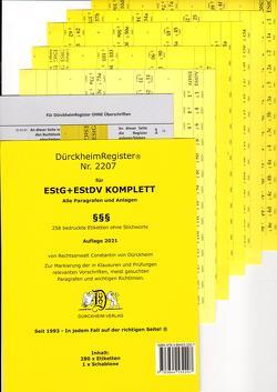 DürckheimRegister® EStG+EStDV KOMPLETT alle §§ 2021 von Dürckheim,  Constantin