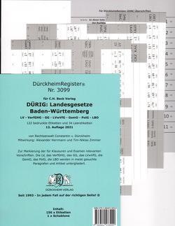 DürckheimRegister® für DÜRIG: BADEN-WÜRTTEMBERG, C.H. Beck Verlag von Dürckheim,  Constantin von, Herrmann,  Alexander, Zimmer,  Tim-Niklas