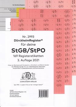 DürckheimRegister® StGB/StPO – 2. Staatsexamen 2021 von Dürckheim,  Constantin, Grassinger,  Nathanael, Martin,  Hackler