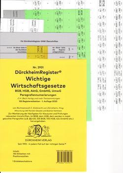 DürckheimRegister® WICHTIGE WIRTSCHAFTSGESETZE (BGB, HGB, GmbHG, AktG, UmwG) (2021) §§ und Gesetze von Dürckheim,  Constantin, Glaubitz,  Thorsten