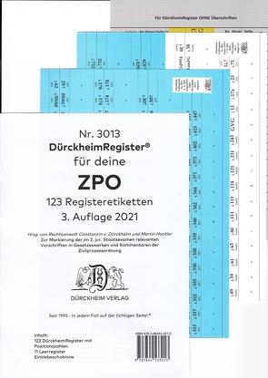 DürckheimRegister® ZPO-THOMAS-PUTZO-2. Staatsexamen 2021 von Dürckheim,  Constantin, Grassinger,  Nathanael, Hackler,  Martin