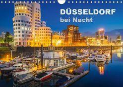 Düsseldorf bei Nacht (Wandkalender 2019 DIN A4 quer) von Abel,  Roland