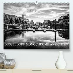DÜSSELDORF MONOCHROME ANSICHTEN (Premium, hochwertiger DIN A2 Wandkalender 2021, Kunstdruck in Hochglanz) von Jaster,  Michael