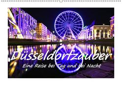 Düsseldorfzauber – Eine Reise bei Tag und bei Nacht (Wandkalender 2019 DIN A2 quer) von Hackstein,  Bettina