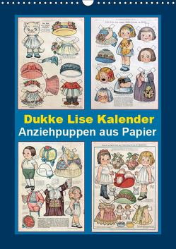 Dukke Lise Kalender – Anziehpuppen aus Papier (Wandkalender 2019 DIN A3 hoch) von Erbs,  Karen