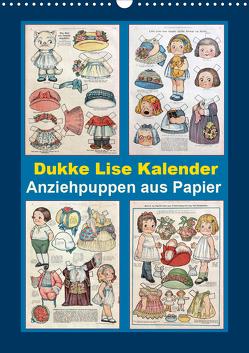 Dukke Lise Kalender – Anziehpuppen aus Papier (Wandkalender 2020 DIN A3 hoch) von Erbs,  Karen