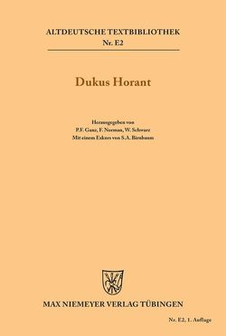 Dukus Horant von Birnbaum,  Salomo A., Ganz,  Peter, Norman,  Frederick