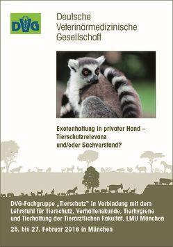 """DVG-Fachgruppe """"Tierschutz"""" in Verbindung mit dem Lehrstuhl für Tierschutz, Verhaltenskunde, Tierhygiene und Tierhaltung der Tierärztlichen Fakultät, LMU München"""