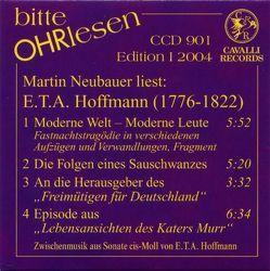 E. T. A. Hoffmann (1776-1822) von Hoffmann,  E T A, Neubauer,  Martin