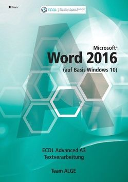 ECDL Advanced Word 2016 A3 (auf Basis Windows 10)