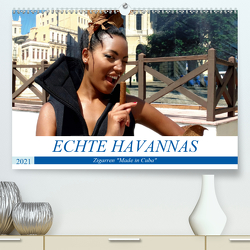"""Echte Havannas – Zigarren """"Made in Cuba"""" (Premium, hochwertiger DIN A2 Wandkalender 2021, Kunstdruck in Hochglanz) von von Loewis of Menar,  Henning"""