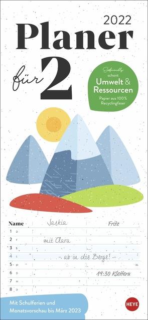 Ecofriendly Planer für zwei Kalender 2022 von Heye