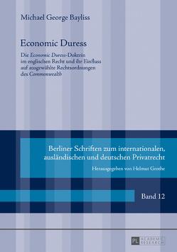 Economic Duress von Bayliss,  Michael-George