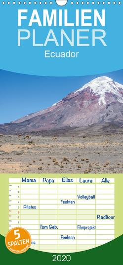 Ecuador – Familienplaner hoch (Wandkalender 2020 , 21 cm x 45 cm, hoch) von Leonhardy,  Thomas