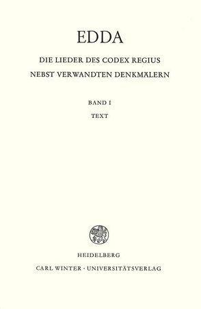 Edda. Die Lieder des Codex regius nebst verwandten Denkmälern / Text von Kuhn,  Hans, Neckel,  Gustav