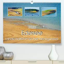 Edersee – Landschaftsformen bei Niedrigwasser (Premium, hochwertiger DIN A2 Wandkalender 2020, Kunstdruck in Hochglanz) von Bienert,  Christine