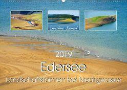 Edersee – Landschaftsformen bei Niedrigwasser (Wandkalender 2019 DIN A2 quer) von Bienert,  Christine